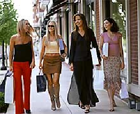 group of women walking