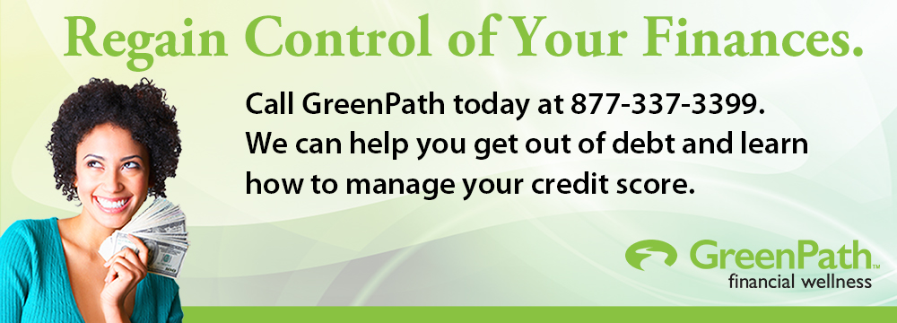 GreenPath Financial Wellness. Receive free, confidential advice from a trusted partner. Call 877-337-3399 or visit www.greenpath.com/hefcu
