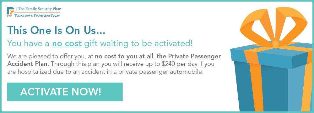 No Cost Private Passenger Accident Plan Available To Members
