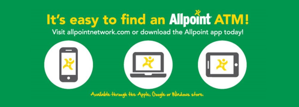 Surcharge-free access to your cash is available. Visit allpointnetwork.com to find a surcharge-free ATM today.
