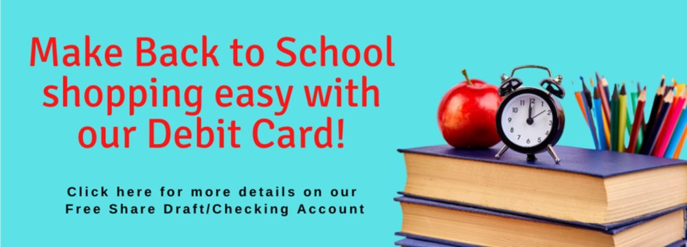 Back to School Shopping doesn't have to be hard! Make it easy with our Debit Card. Visit https://www.hefcu.com/account/share-draft-account/ for more details today.
